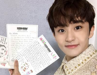 【NCT】nct127メンバーたちの手元に届いたファンレター!認証ショット公開♡