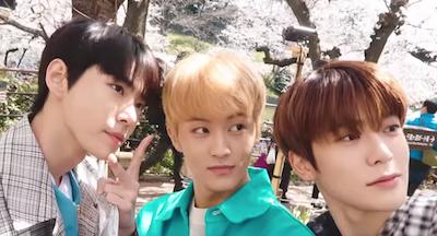 【NCT】nct127 ドヨン、マーク、ジェヒョンの日本でのお花見♡