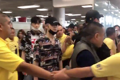 【NCT】nct127 バンコクの空港で守られてるメンバーたち♡しかしそれでも悲惨な状態に・・・