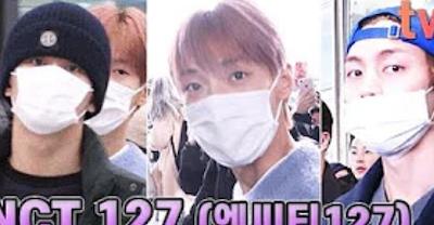 【NCT】nct127 メンバーたちが福岡公演を終えて日本から韓国、仁川空港へと到着